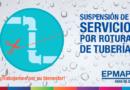 Suspensión de agua Potable en sectores de Carapungo por rotura de tubería