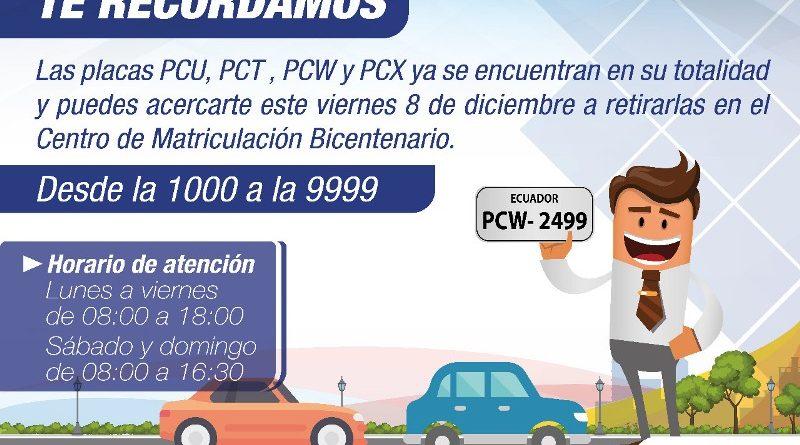 La AMT entrega las placas para vehículos nuevos – Quito Informa