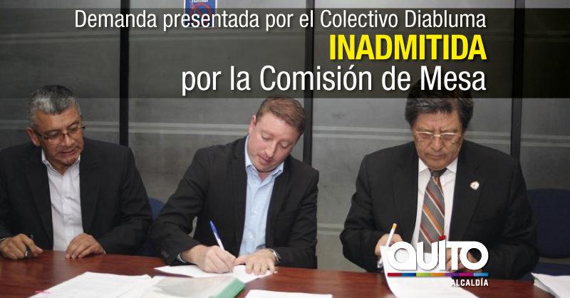 Solicitud para la remoción del Alcalde de Quito no cumple con la norma legal
