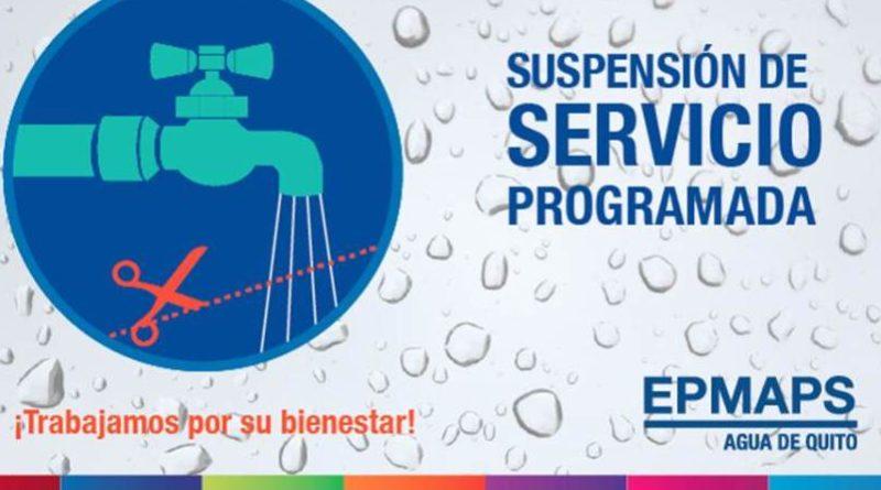 Suspensi n del servicio de agua potable en el condado for Agua potable quito