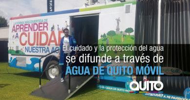 Agua de Quito Móvil llegó al Centro Comercial El Recreo