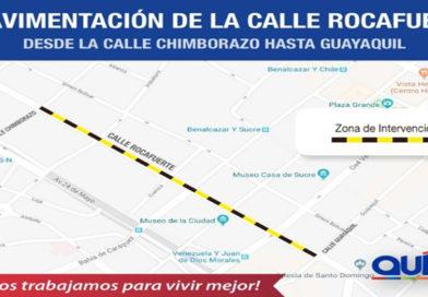 Iniciaron trabajos de rehabilitación vial en la calle Rocafuerte