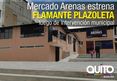 Mercado Arenas cuenta con nueva Plazoleta