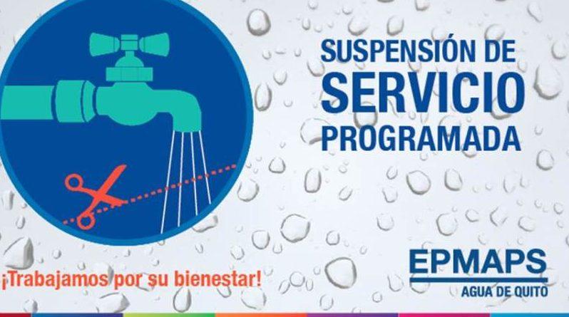 Suspensión del servicio de agua potable en Monjas y Puengasí