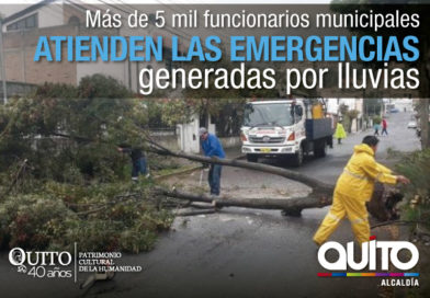 214 emergencias atendidas por el Municipio de Quito en la época invernal