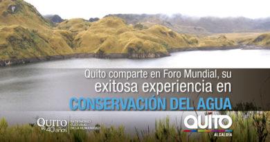 Agua de Quito participa en el Foro Mundial del Agua por su inversión en conservación hídrica