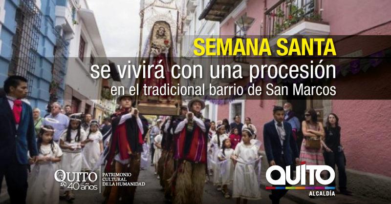 Viva en San Marcos la procesión de la Soledad de María – Quito Informa