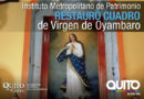 La Virgen de Oyambaro regresa totalmente restaurada a su templo