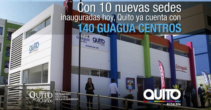 Municipio de Quito inauguró 10 nuevos Guagua Centros en la ciudad