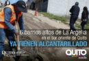 Barrios de la Argelia Alta se benefician de alcantarillado