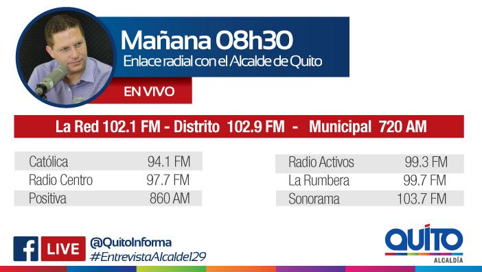 Este miércoles 23 de mayo las radios de la Capital entrevistan al Alcalde Mauricio Rodas
