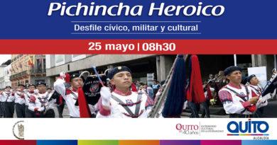 Desfile en conmemoración a la Batalla de Pichincha