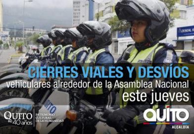 Operativo de movilidad por actos del 24 de Mayo