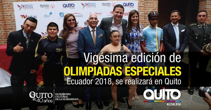 Quito es sede de XX edición de Juegos Nacionales Olimpiadas Especiales