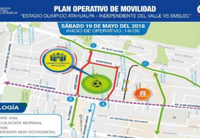 AMT implementa operativo por partido Independiente del Valle – Emelec