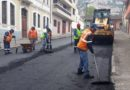 Mantenimiento vial en 20 sectores de Quito