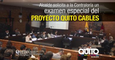 Alcalde Rodas pedirá a la Contraloría que realice un examen especial al proyecto Quito Cables