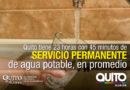 Quito lidera la continuidad del servicio de agua en la región