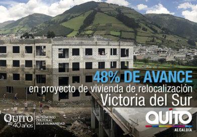 Continúa la construcción de viviendas de relocalización en Victoria Sur