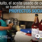 Usuarios del Patronato reciclan aceite usado de cocina
