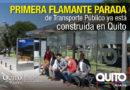Alcalde Rodas constató inicio de construcción de 414 nuevas paradas de transporte público