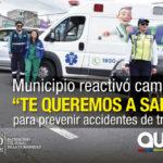 Campaña de concientización en la avenida Simón Bolívar