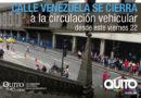 Se suspende el tránsito vehicular en la calle Venezuela por obras de alcantarillado