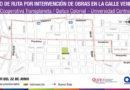Desvíos de transporte público por trabajos en la calle Venezuela