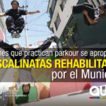 Parkour en las escalinatas de Quito