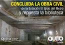 Alcalde Rodas entregó biblioteca y recorrió la estación El Ejido del Metro