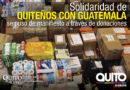 10 toneladas de donativos entregó el Municipio de Quito para Guatemala