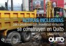 Municipio de Quito ejecuta trabajos de rehabilitación de aceras