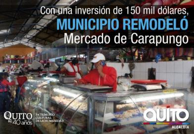 Alcalde Mauricio Rodas visitó el remodelado mercado de  Carapungo