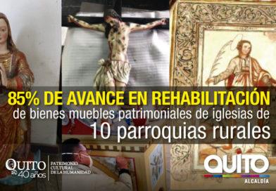 Continúa el rescate del Patrimonio Religioso en las parroquias del Distrito