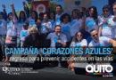 Municipio de Quito retoma la campaña 'Corazones Azules' para la prevención de accidentes de tránsito