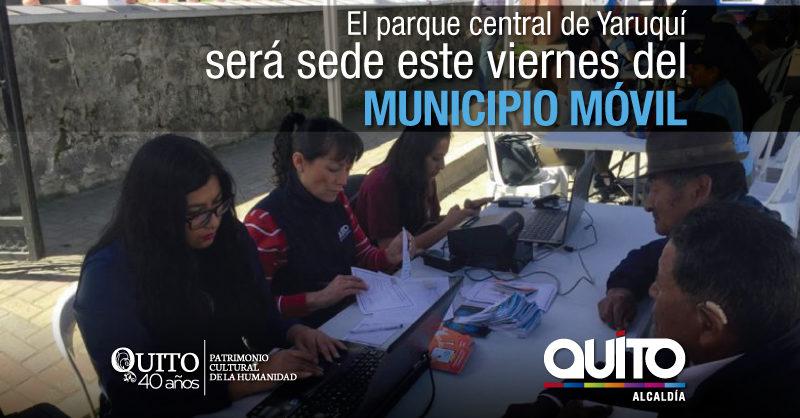 Municipio Móvil atenderá este viernes 15 de junio en Yaruquí