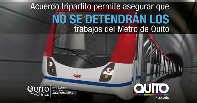 No se paralizará la construcción del Metro de Quito