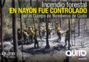 Luego de 27 horas de trabajo, Bomberos Quito controló incendio en Nayón