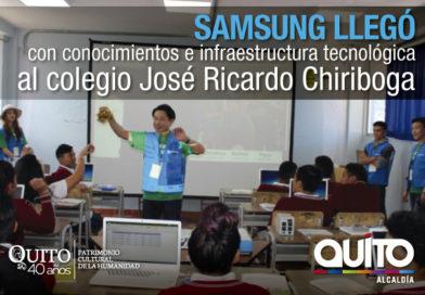Colegio José Ricardo Chiriboga beneficiado con el programa del voluntariado de Samsung