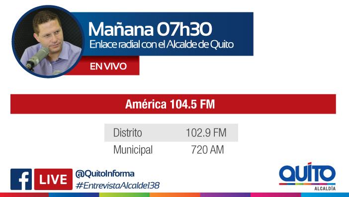 Este miércoles 15 de agosto las radios de la Capital entrevistan al alcalde Mauricio Rodas