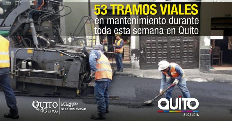 Mantenimiento vial  en 31 sectores de la ciudad