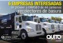 Seis ofertas para provisión de flota de recolectores a EMASEO EP