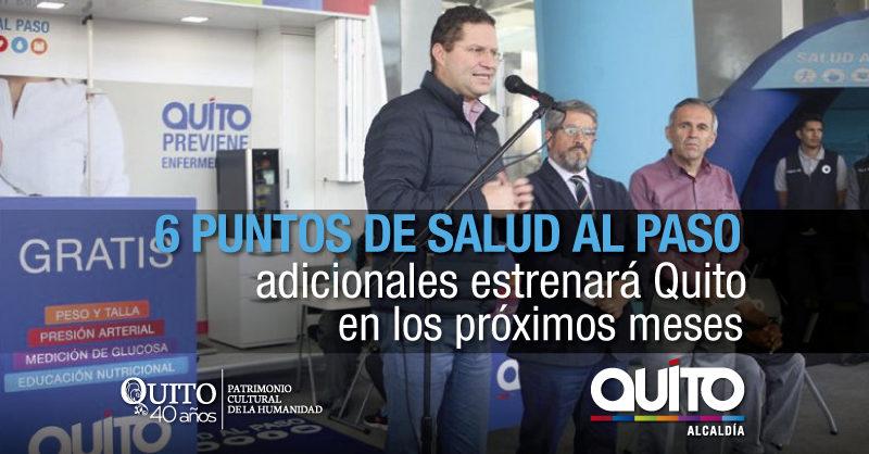 Alcalde Rodas inauguró punto de atención gratuita de Salud al Paso en el Terminal Multimodal El Labrador