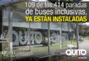Alcalde Rodas constató avance en la instalación de 414 paradas inclusivas