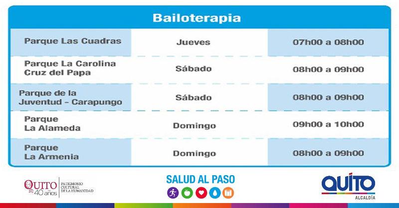 Bailoterapias en Salud al Paso se cumplirán en distintos espacios  del Distrito