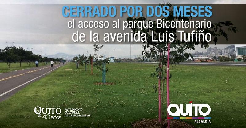 Varios trabajos dan forma al parque Bicentenario