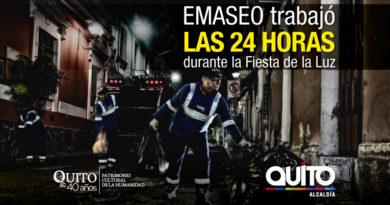 """Emaseo EP: 735 toneladas de residuos se recolectaron durante  """"la Fiesta de la Luz 2018"""""""