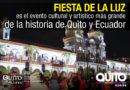 3.7 millones de visitas tuvo el Centro Histórico en la Fiesta de la Luz 2018