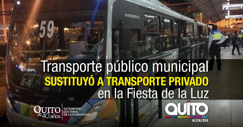 Más de 700 mil pasajeros movilizados en transporte municipal durante la Fiesta de la Luz