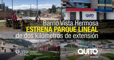 Concluye la construcción de Parque Lineal en Chillogallo